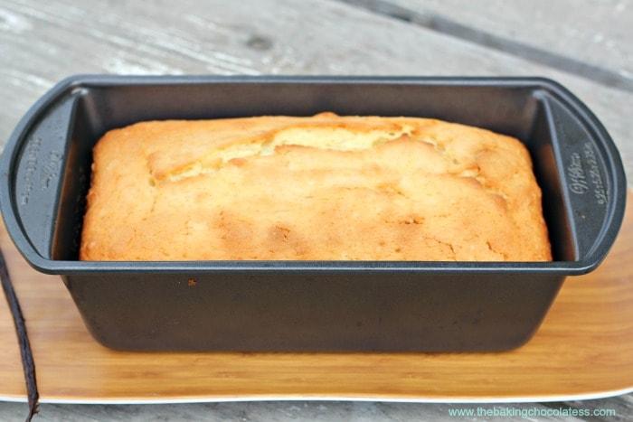 Vanilla Bean Cream Cheese Pound Cake Loaf {Vanilla Bean Frosting}