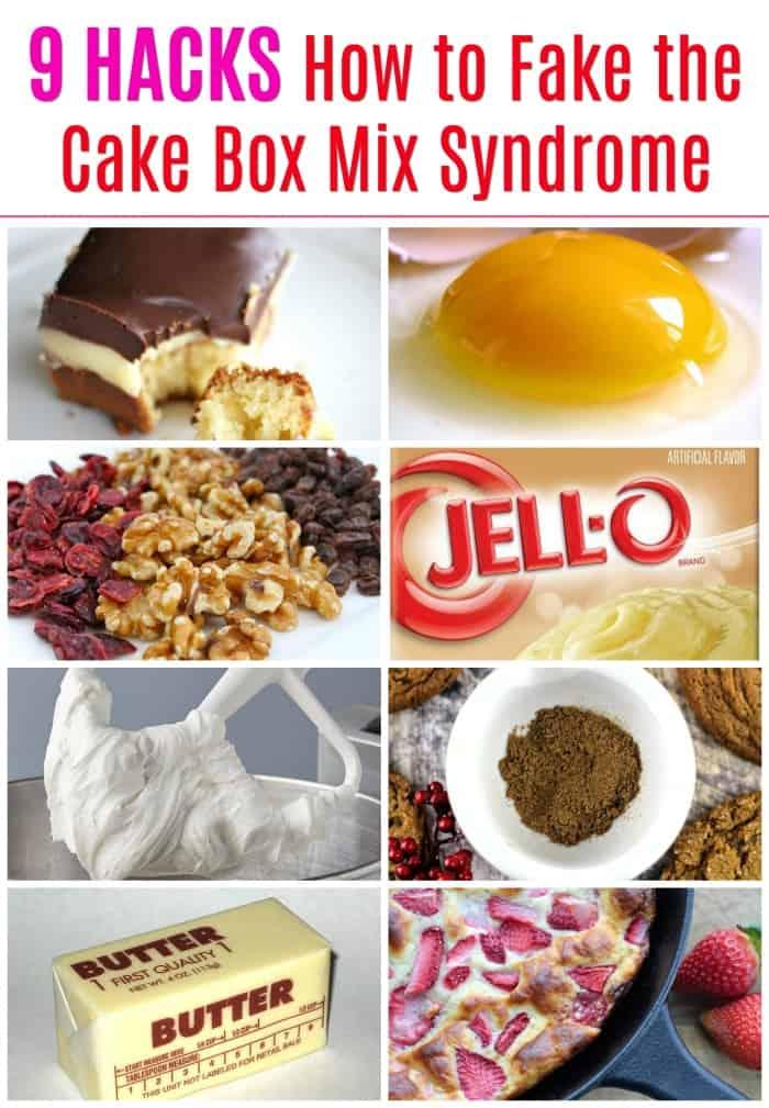 9 Hacks How to Fake the Cake Box Mix Syndrome  #hacks #cake mix #boxed cake #tips #baking