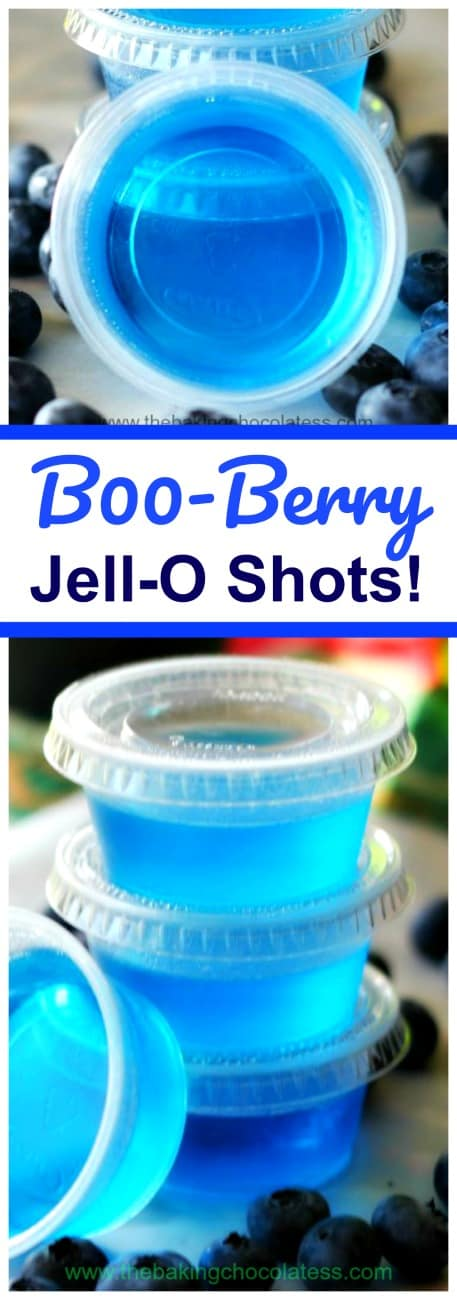 B00-Berry Jell-O Shots! My uber Halloween party-friends, you can get your chill on this Halloween with these ghoulish B00-Berry Jell-O Shots! Party Time! Excellent!