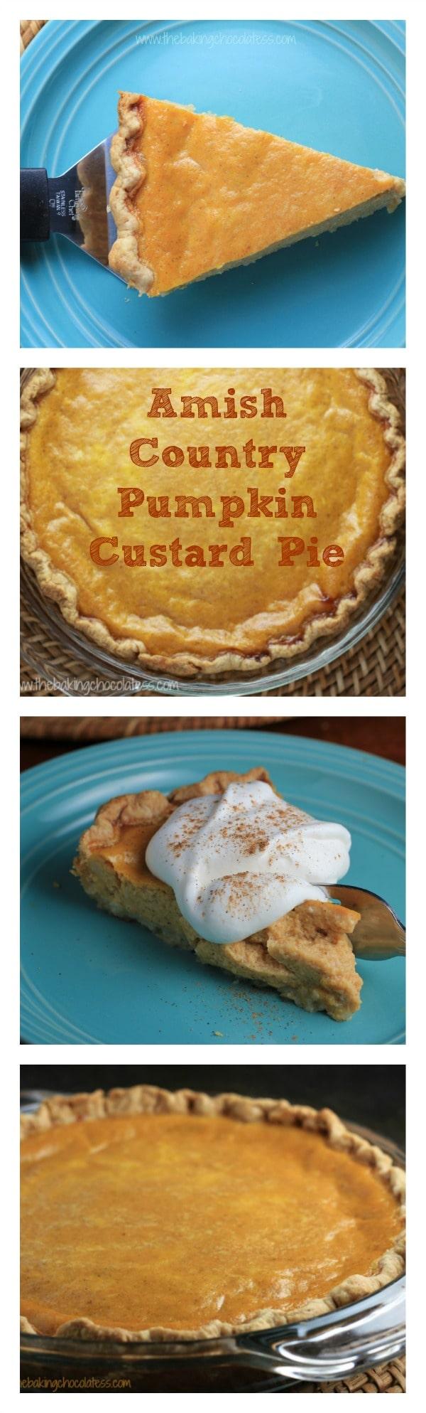 Amish Country Pumpkin Custard Pie