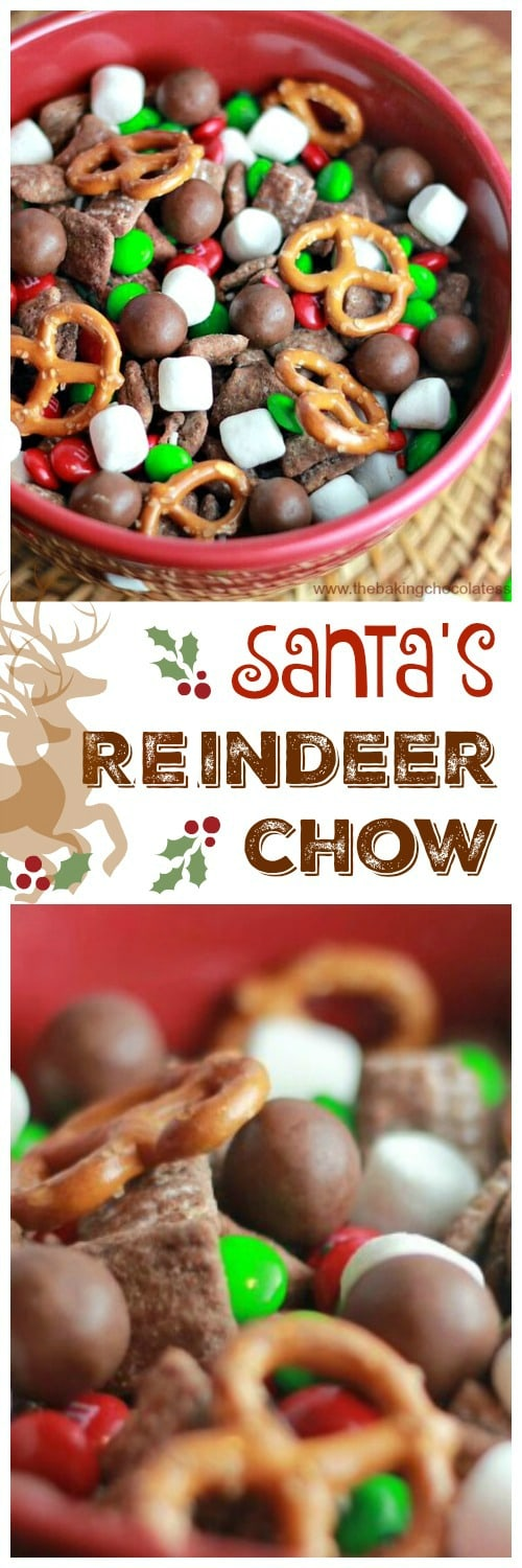 Here comes Santa Claus, Here comes Santa Claus, right down Reindeer Lane!  Santa's gearing up for that special night before Christmas and do you know what snack Reindeer love the most? Santa's Yummy Reindeer Chow!!