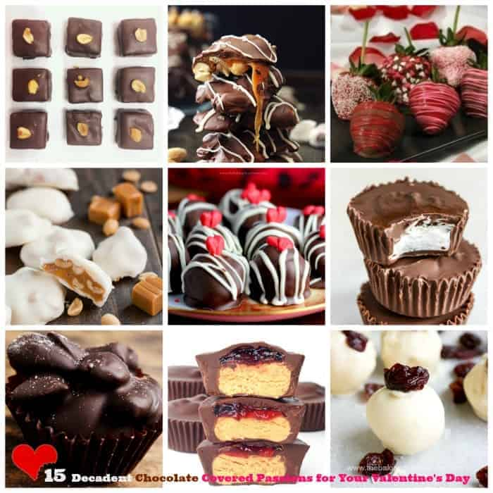 15 Decadent Chocolate Covered Passions for Your Valentine's DayCollage