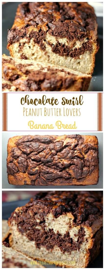 Chocolate Swirl Peanut Butter Lovers Banana Bread