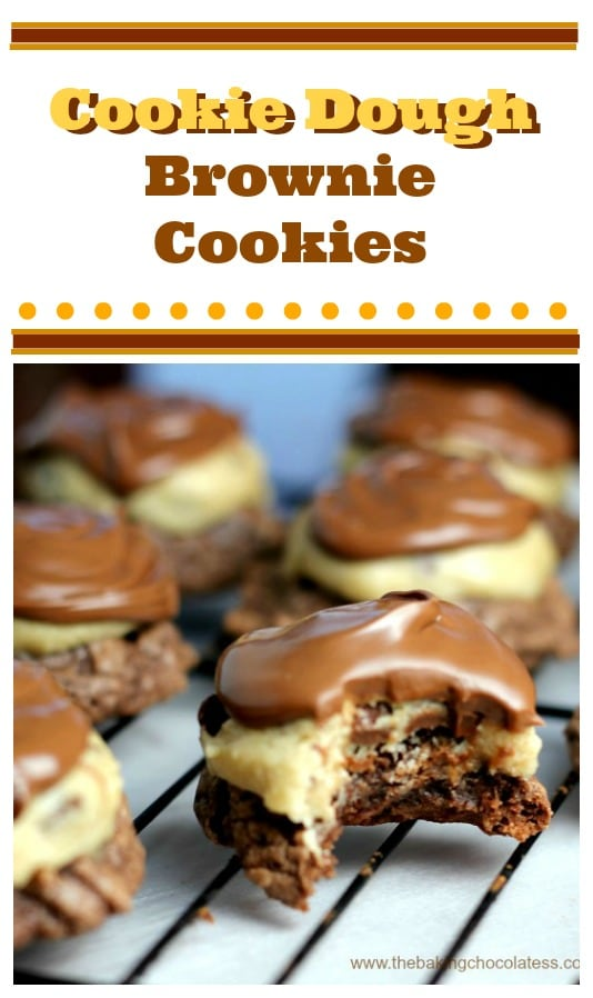Cookie Dough Brownie Cookies {Nutella and Peanut Butter Options too!}