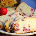 Quick & Easy Lemon Strawberry Yogurt Pound Cake