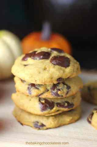 4. Soft Batch Pumpkin Chocolate Chip Cookies {Eggless too!}