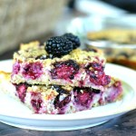 Baked Blackberry Coconut Oatmeal