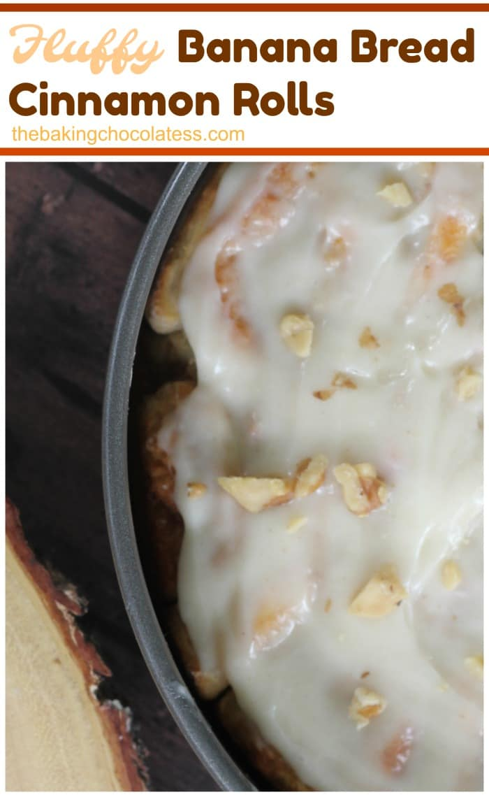 Fluffy Banana Bread Cinnamon Rolls - How long has it been since you made home-made cinnamon rolls?  Fluffy Banana Bread Cinnamon Rolls are a must if it's been awhile!  It's a wonderful treat for your weekend when you have family in town or  you want an extra special treat or brunch! <3