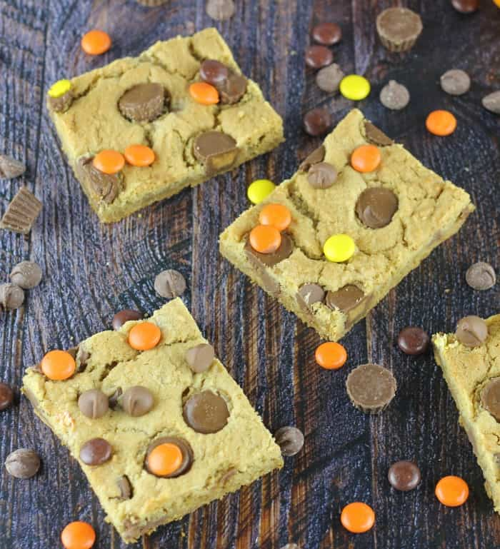 Sheet Pan Peanut Butter Cup Cookie Bars