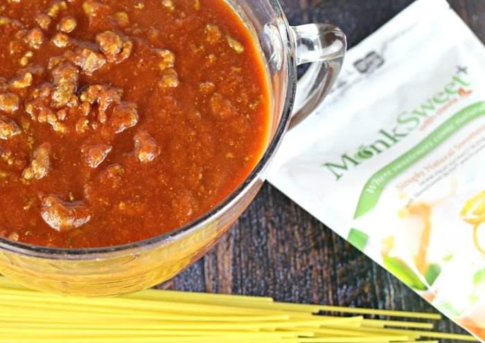 Turkey Bolognese Spaghetti Sauce#MonkSweet#@stevivabrands #sweetandeasy #steviva