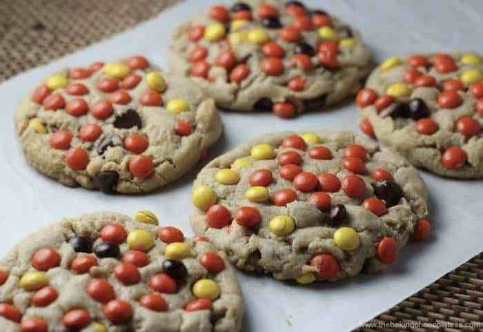 Soft-Batch Style Reese's Pieces Peanut Butter Blast Cookies
