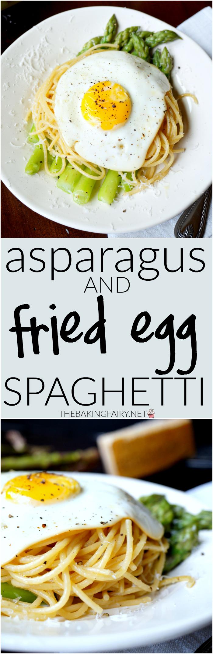 asparagus & fried egg spaghetti   The Baking Fairy