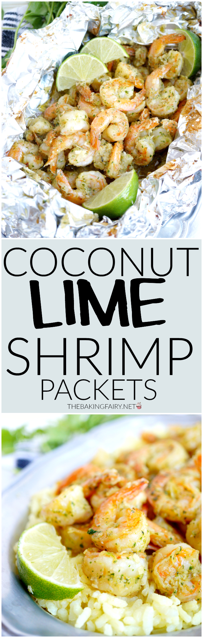 coconut lime shrimp packets | The Baking Fairy