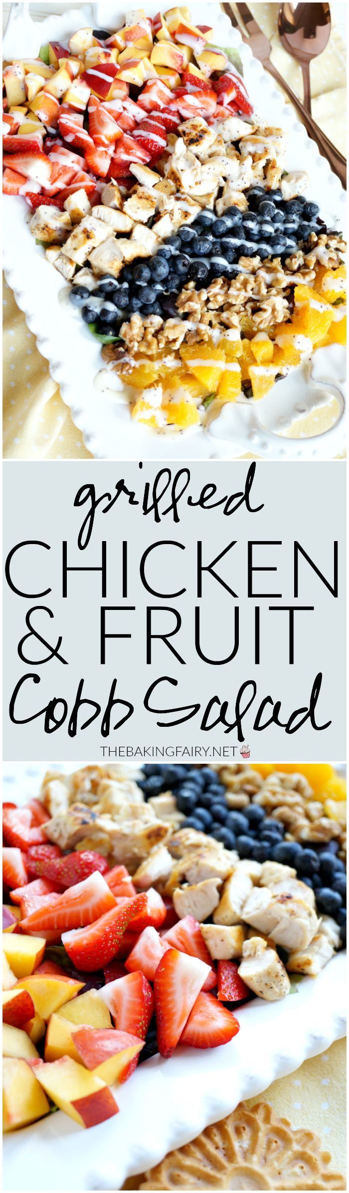 grilled chicken & fruit cobb salad | The Baking Fairy