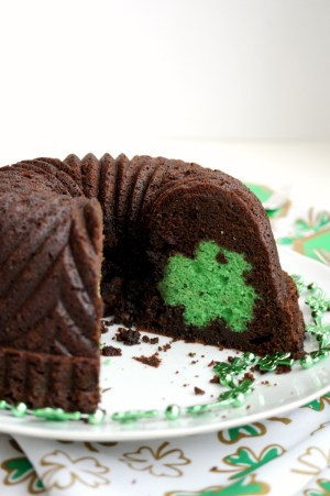 st. patrick secret shamrock chocolate bundt cake   The Baking Fairy