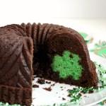 st. patrick secret shamrock chocolate bundt cake | The Baking Fairy