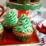 Vegan Vanilla Almond Christmas Tree Cupcakes The Baking Fairy