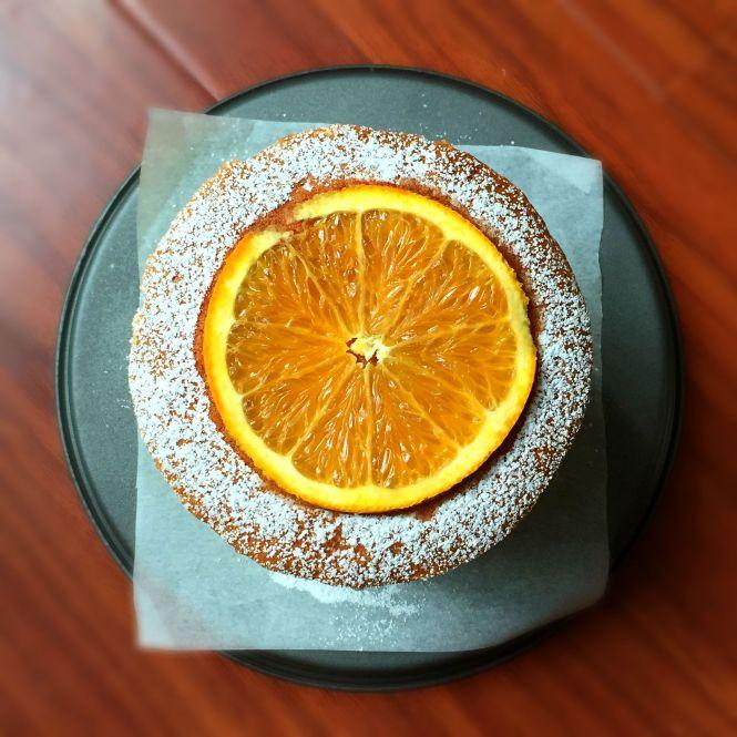 Hot Milk Sponge Cake Orange Buttercream
