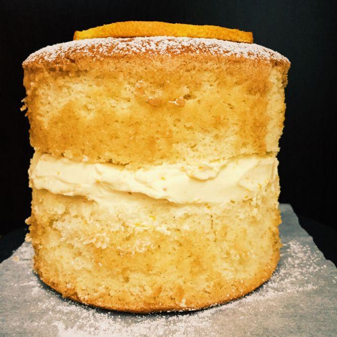 Sponge cake orange buttercream
