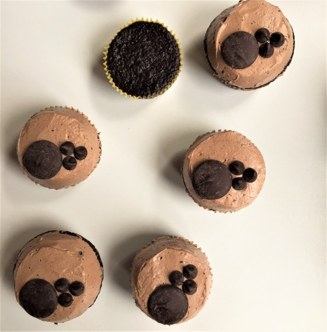 Chocolate cupcakes with Spiced Chocolate German Buttercream