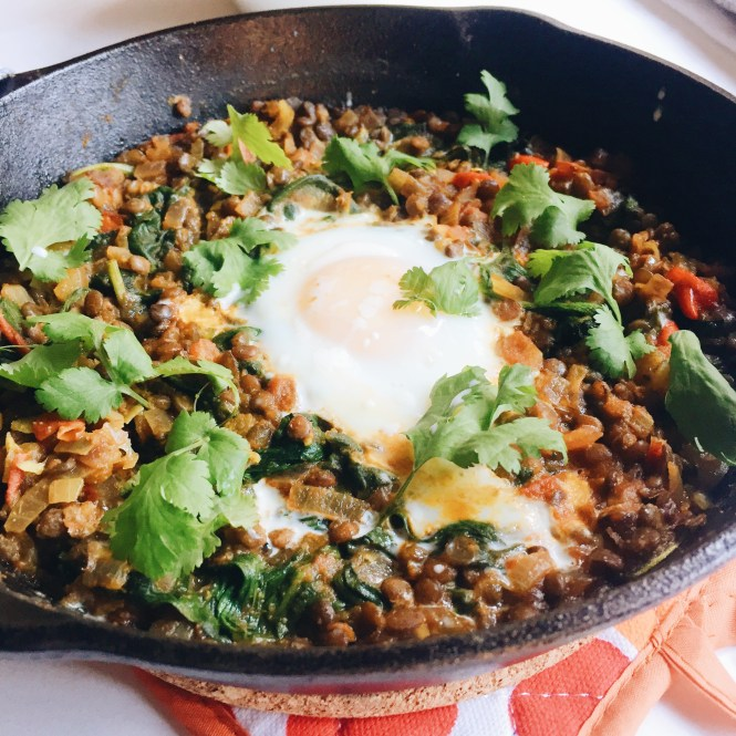 Meal Ideas for One - Lentil Spinach Masala