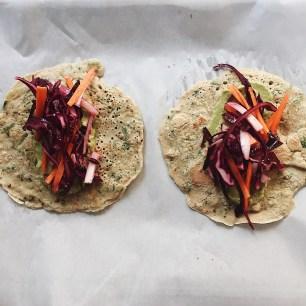 Savoury Quinoa Oat Crepes
