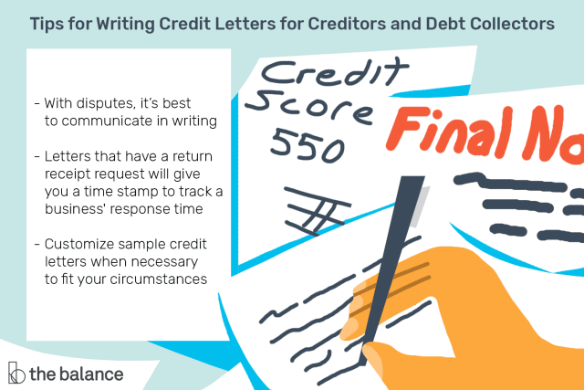 Letters For Creditors And Debt Collectors