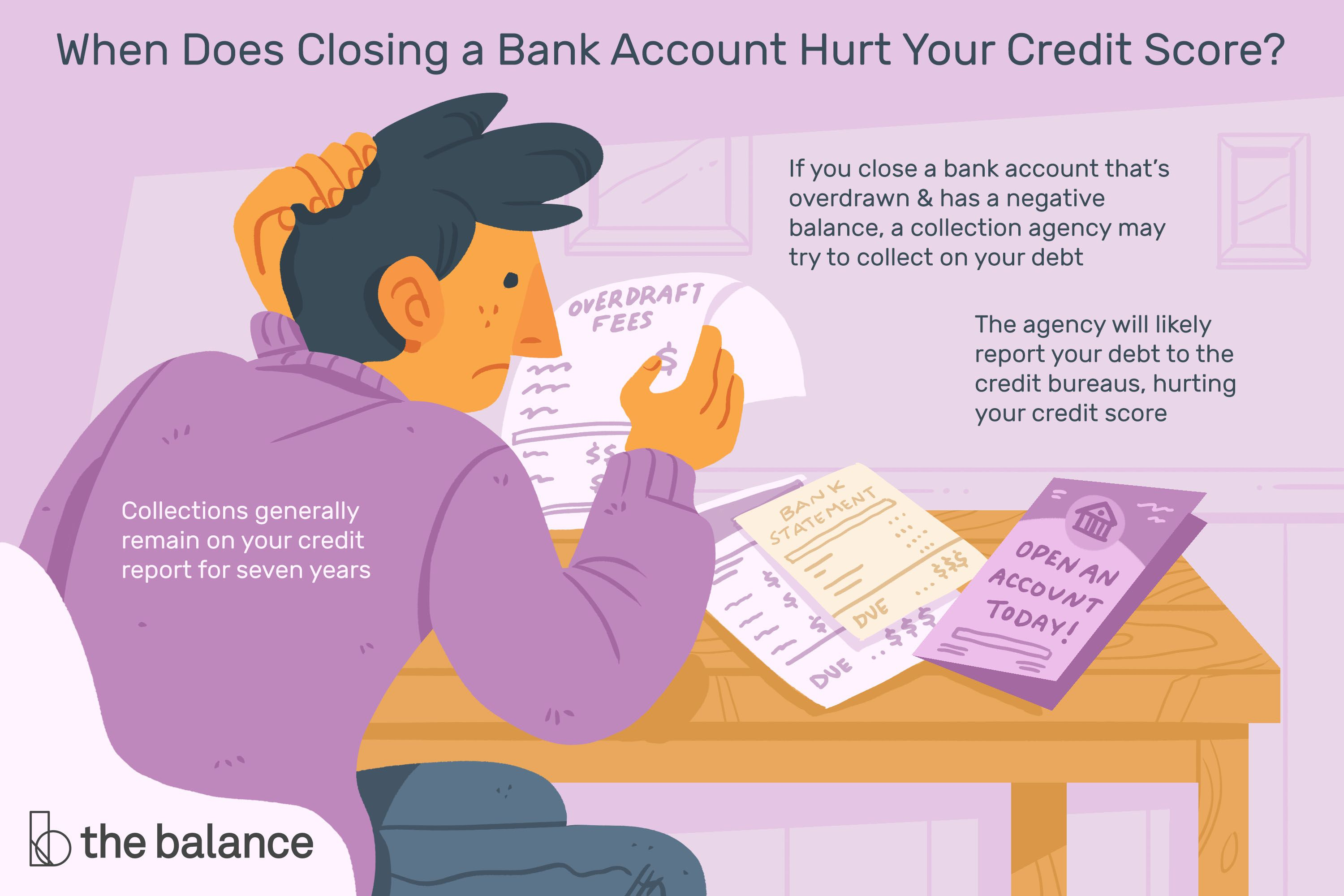 How Closing A Bank Account Affects Your Credit Score