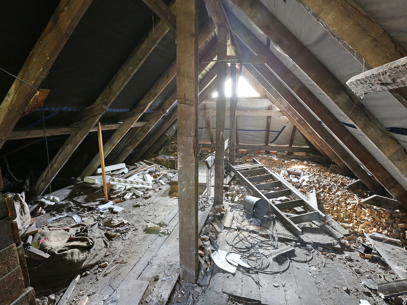 hight resolution of home wiring through attic