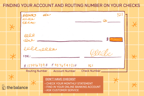 small resolution of where is the account number on a check