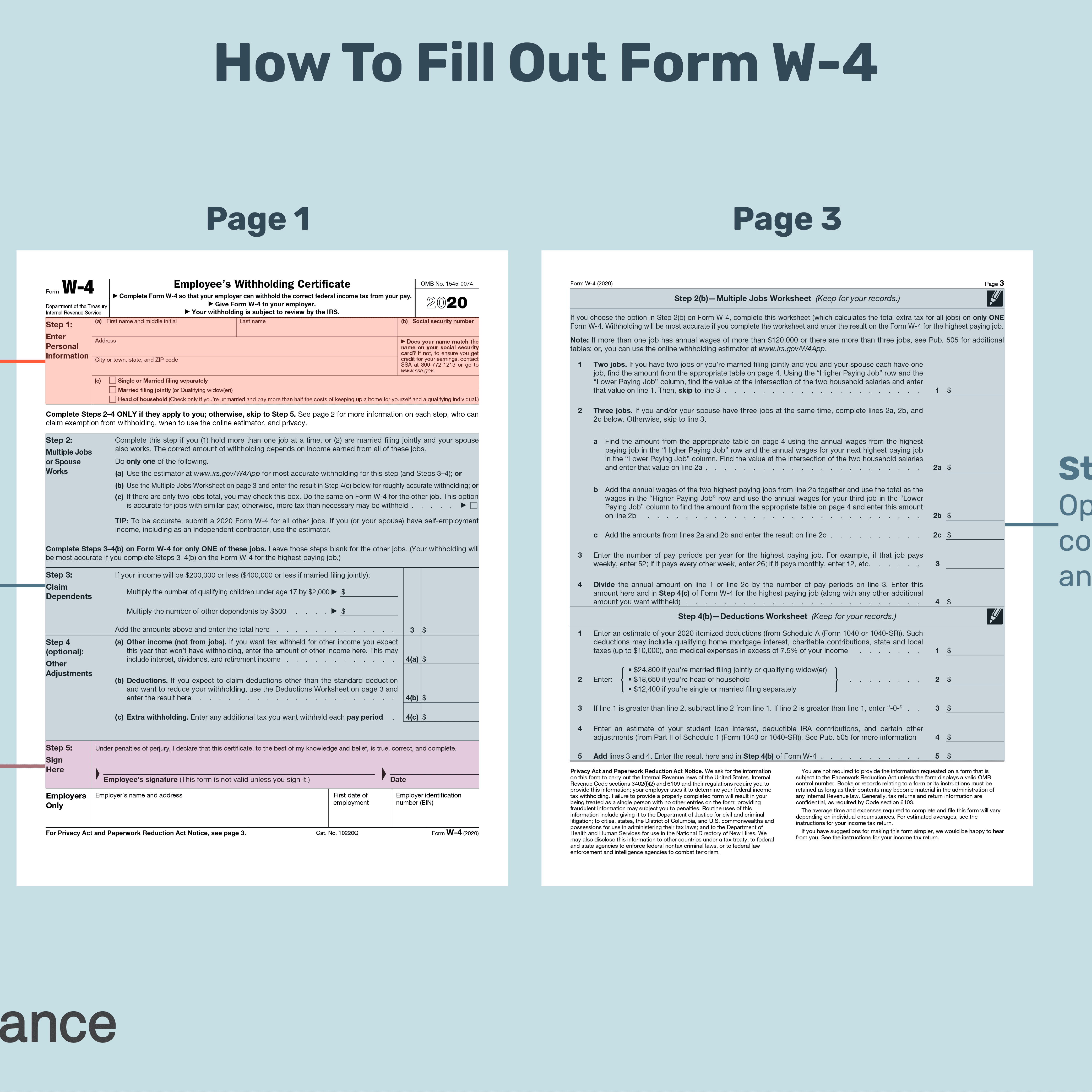 How To Fill Out A W4 Form For A New Job