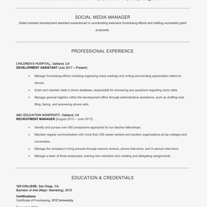 Branding Statement To Your Resume