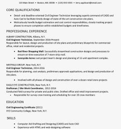 screenshot of a sample resume for a construction job [ 1000 x 1000 Pixel ]