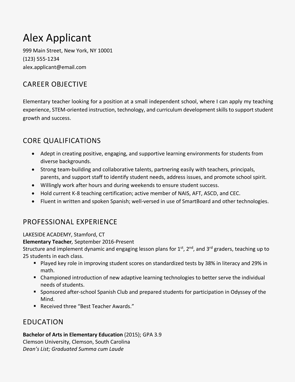 Examples Of Good Objectives For Resumes Mokka Commongroundsapex Co