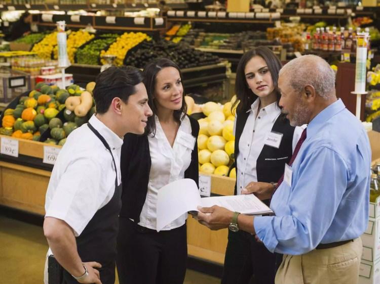 grocery market team