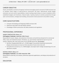 screenshot of a resume example for a construction job [ 1000 x 1000 Pixel ]