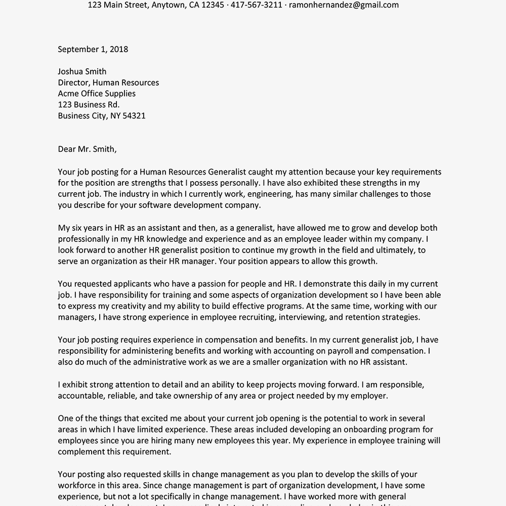 97 Sample Relocation Cover Letter For Administrative