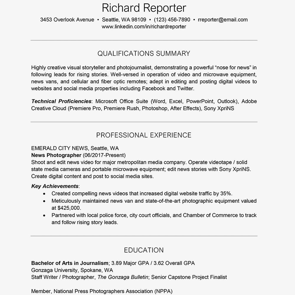 resume example gpa format