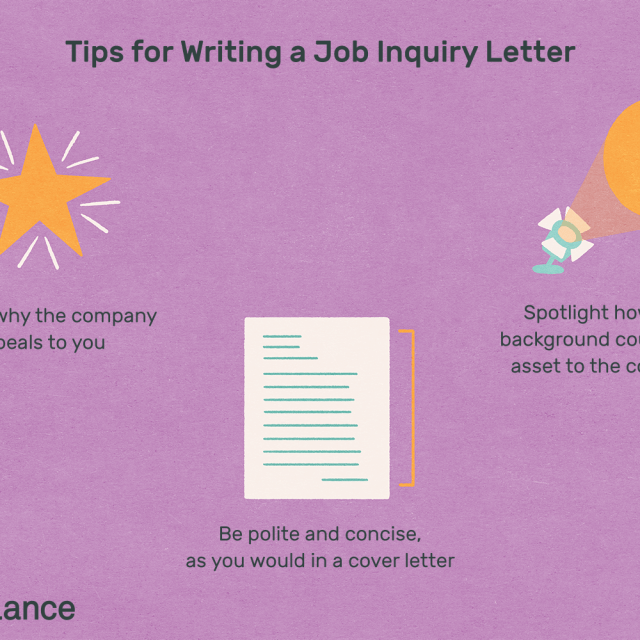 Job Inquiry Letter Samples and Writing Tips