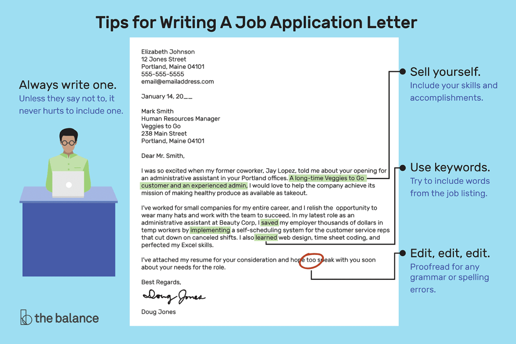 Image result for how to write an application letter