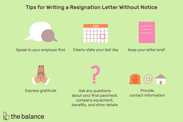 Policies Regarding Quitting a Job Without Notice
