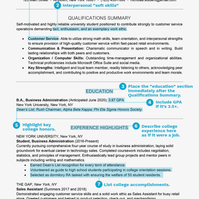 Student Resume Examples, Templates, and Writing Tips