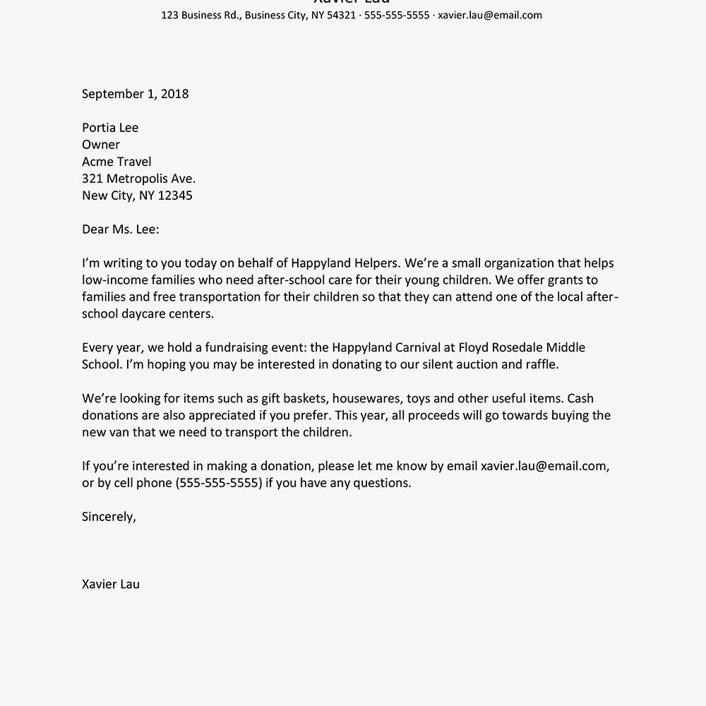 hight resolution of screenshot of a business letter example