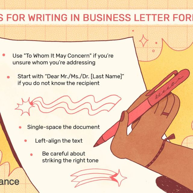 Business Letter Format With Examples