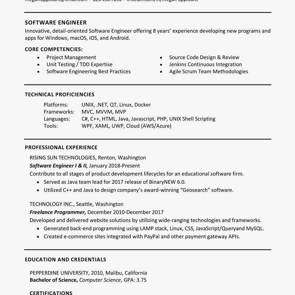 Sample Resume Qualifications List