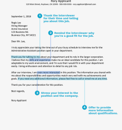 screenshot of a thank you letter for an administrative position [ 1000 x 1000 Pixel ]