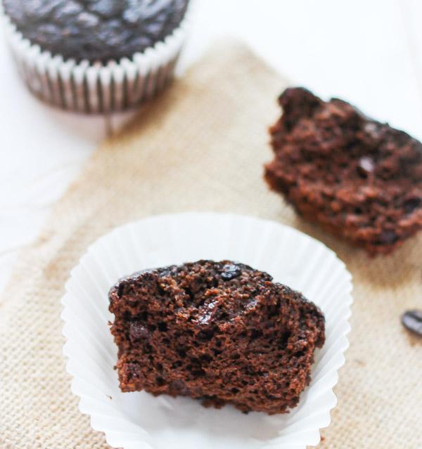 Energizing Espresso Muffins - moist, chocolatey and grain free! via thebalancedberry.com