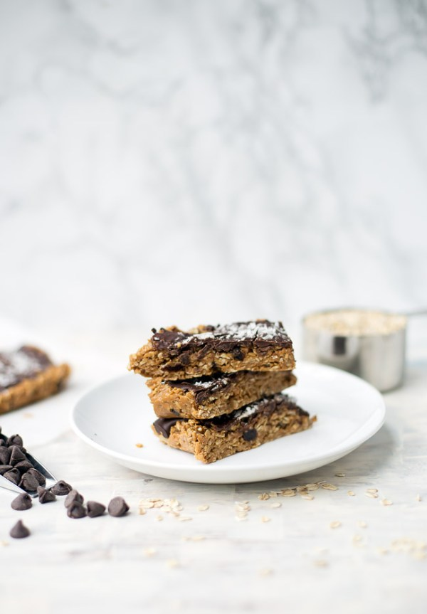 These no-bake Peanut Butter Chocolate Oatmeal bars are the perfect gluten-free sweet treat. They are made with simple, clean ingredients but taste incredibly decadent!