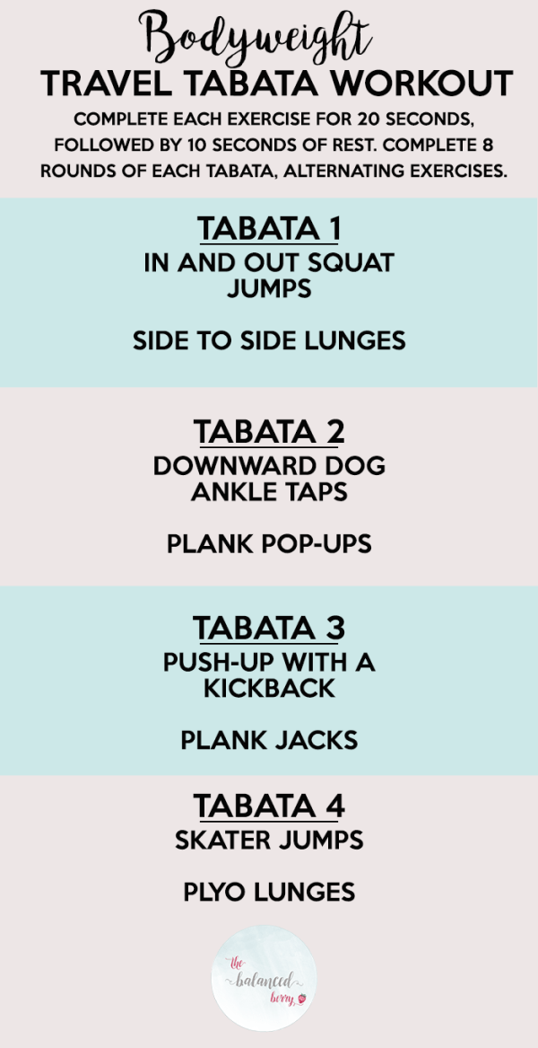 Bodyweight Travel Tabata Workout - perfect for on-the-go!