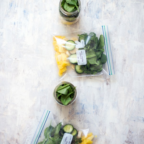 How to Meal Prep Smoothie Packs | Green Goddess Smoothie